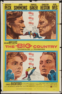 """The Big Country (United Artists, 1958). One Sheet (27"""" X 41"""") Style A. Western"""