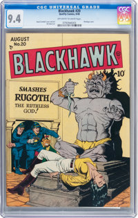 Blackhawk #20 (Quality, 1948) CGC NM 9.4 Off-white to white pages