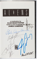 Books:Science Fiction & Fantasy, Alan Dean Foster. CAST SIGNED. Aliens. Severn House, 1987. First British edition, first printing. Signed by seven ...