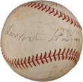 Autographs:Baseballs, 1962-63 Four Living United States Presidents Signed Baseball....