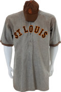 Baseball Collectibles:Uniforms, 1934 Rogers Hornsby Game Worn St. Louis Browns Full Uniform....