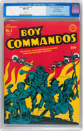 Golden Age (1938-1955):War, Boy Commandos #1 Vancouver pedigree (DC, 1942) CGC NM 9.4 Whitepages....