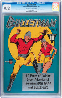 Bulletman #1 (Fawcett Publications, 1941) CGC NM- 9.2 Off-white to white pages