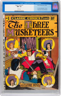 Classic Comics #1 The Three Musketeers (Elliott, 1941) CGC NM- 9.2 White pages