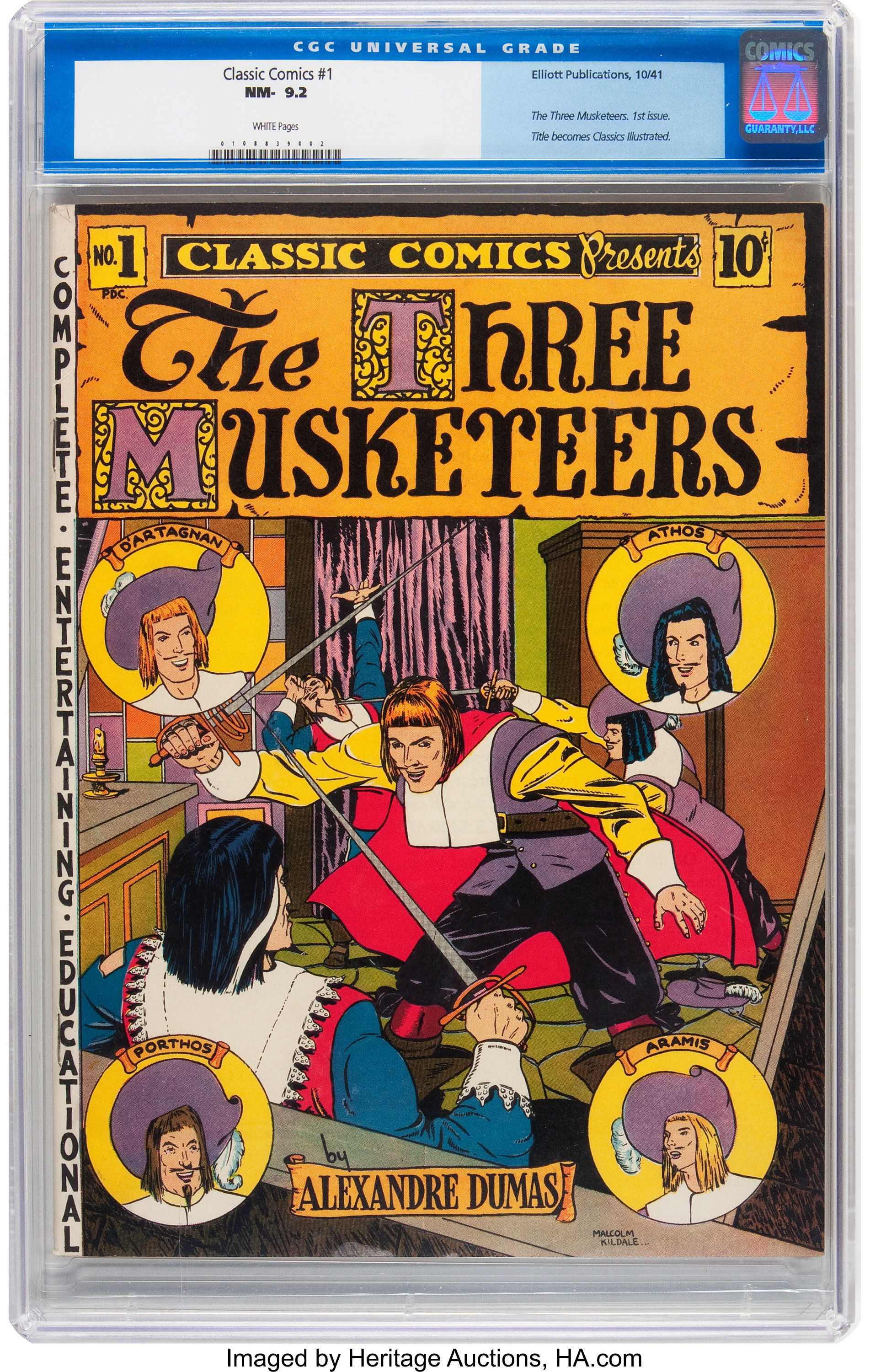 Classic Comics #1 The Three Musketeers (Elliott, 1941) CGC