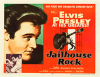 "Jailhouse Rock (MGM, 1957). Half Sheet (22"" X 28"") Style A. From the collection of Wade Williams"