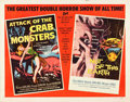 "Movie Posters:Science Fiction, Attack of the Crab Monsters/Not of This Earth Combo (AlliedArtists, 1957). Half Sheet (22"" X 28""). From the collectionof..."