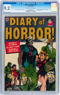 Golden Age (1938-1955):Horror, Diary of Horror #1 (Avon, 1952) CGC NM- 9.2 Off-white to whitepages....
