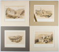 Books:Prints & Leaves, David Roberts. Group of Four Nineteenth Century Color Lithographsof the Holy Land. Approx. 9.5 x 12.5 inches. Matted. Very ...(Total: 4 Items)