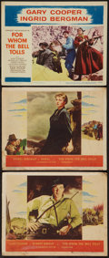 """Movie Posters:Drama, For Whom the Bell Tolls (Paramount, 1943 and R-1957). Lobby Cards (3) (11"""" X 14""""). Drama.. ... (Total: 3 Items)"""