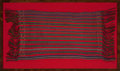 Decorative Arts, Continental:Other , A FRAMED MEXICAN WOVEN TEXTILE . 20th century . 24 inches high x 51inches wide (61.0 x 129.5 cm). Elton Hyder III Collect...