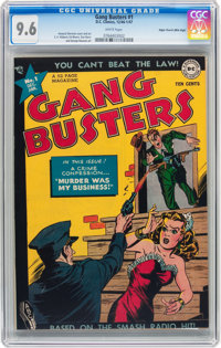 Gang Busters #1 Mile High pedigree (DC, 1947) CGC NM+ 9.6 White pages