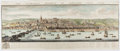 """Books:Prints & Leaves, Samuel Buck and Nathaniel Buck. Hand-Colored Copperplate Panorama""""The South-East Prospect of Newcastle Upon Tyne."""", ..."""