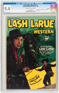 Golden Age (1938-1955):Western, Lash LaRue Western #1 Hawkeye pedigree (Fawcett Publications, 1949)CGC NM 9.4 Off-white to white pages....
