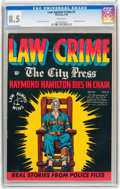 Golden Age (1938-1955):Crime, Law Against Crime #1 (Essenkay Publishing, 1948) CGC VF+ 8.5 White pages....