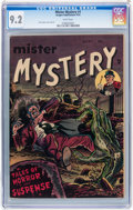 Golden Age (1938-1955):Horror, Mister Mystery #1 (Aragon, 1951) CGC NM- 9.2 White pages....