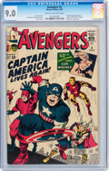 Silver Age (1956-1969):Superhero, The Avengers #4 (Marvel, 1964) CGC VF/NM 9.0 Cream to off-whitepages....