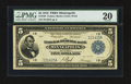 Fr. 799 $5 1918 Federal Reserve Bank Note PMG Very Fine 20