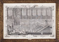 Prints, ENGLISH ARTIST (19th century). LE ROY PROSTERNE DEVANT L'AUTEL.Coronation of Louis XV, Third of Series. Print. 22 x 31 ...