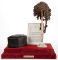 Decorative Arts, British:Other , A CASED ENGLISH BARRISTER'S WIG . 19th century . 22-7/8 inches highx 21 inches long x 13-1/2 inches inches deep (58.2 x 53....