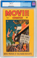 Golden Age (1938-1955):Adventure, Movie Comics #1 (Fiction House, 1946) CGC NM- 9.2 Off-white to white pages....