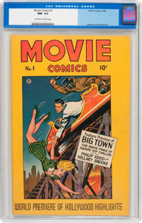 Movie Comics #1 (Fiction House, 1946) CGC NM- 9.2 Off-white to white pages