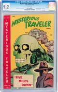 Golden Age (1938-1955):Horror, Mysterious Traveler Comics #1 Vancouver pedigree (Trans World,1948) CGC NM- 9.2 White pages....
