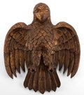 Decorative Arts, Continental:Other , A MEXICAN CARVED GILT WOOD EAGLE . 19th century . 21 inches high x17-1/2 inches wide (53.3 x 44.5 cm). Elton Hyder III Co...