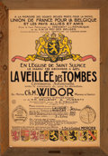 Prints, FRENCH ARTIST (20th Century). La Veillee Des Tombes. Colorlithograph. 46 x 30-1/2 inches (116.8 x 77.5 cm). Elton Hyd...