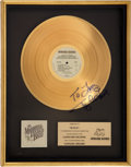 Music Memorabilia:Autographs and Signed Items, Toy Caldwell Autographed Marshall Tucker Band Carolina Dreams Capricorn Records In-House Gold Album Award....