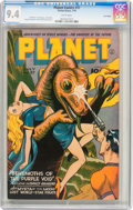 Golden Age (1938-1955):Science Fiction, Planet Comics #37 Lost Valley pedigree (Fiction House, 1945) CGC NM9.4 White pages....