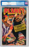 Golden Age (1938-1955):Science Fiction, Planet Comics #45 Lost Valley pedigree (Fiction House, 1946) CGC NM9.4 White pages....