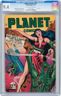 Golden Age (1938-1955):Science Fiction, Planet Comics #51 (Fiction House, 1947) CGC NM 9.4 Off-white towhite pages....