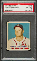 Baseball Cards:Singles (1940-1949), 1949 Bowman Charles Barrett #213 PSA NM-MT 8 - Only Two Higher! ...