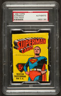 Non-Sport Cards:Unopened Packs/Display Boxes, 1966 Topps Superman Unopened Wax Pack PSA Authentic. ...