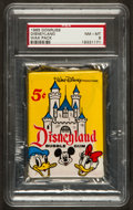 "Non-Sport Cards:Unopened Packs/Display Boxes, 1965 Donruss ""Disneyland"" Unopened Wax Pack PSA 8. ..."