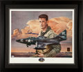 Baseball Collectibles:Others, Ted Williams Signed Lithograph. ...