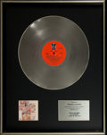 Music Memorabilia:Awards, Al Stewart Year of the Cat RCA Records In-House PlatinumAlbum Award....