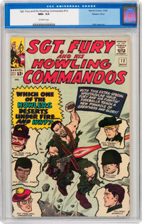Sgt. Fury and His Howling Commandos #12 Western Penn pedigree (Marvel, 1964) CGC NM+ 9.6 Off-white pages