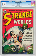Golden Age (1938-1955):Science Fiction, Strange Worlds #1 Carson City pedigree (Avon, 1950) CGC NM 9.4White pages....