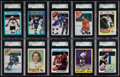 Hockey Cards:Lots, 1960's-1980 Topps & O-Pee-Chee SGC-Graded Collection (52). ...