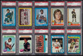 Hockey Cards:Lots, 1973-1979 Topps Hockey PSA NM-MT Collection (68). ...
