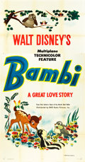 "Movie Posters:Animation, Bambi (RKO, 1942). Three Sheet (41"" X 79.5"") Advance.. ..."