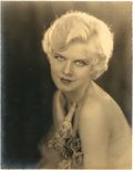 "Movie Posters:Miscellaneous, Jean Harlow by Edwin Bower Hesser (MGM, 1928-29). Portrait Photo(10.25"" X 13.25"")... ..."