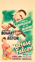"Movie Posters:Film Noir, The Maltese Falcon (Warner Brothers, 1941). Midget Window Card (8""X 14"").. ..."