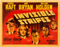 "Movie Posters:Crime, Invisible Stripes (Warner Brothers, 1939). Half Sheet (22"" X 28"")Style A.. ..."