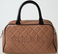 Luxury Accessories:Bags, Heritage Vintage: Chanel Quilted Caviar Leather Small Bowling Bag....