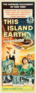 "Movie Posters:Science Fiction, This Island Earth (Universal International, 1955). Insert (14"" X36"").. ..."