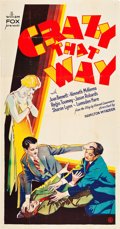 """Movie Posters:Comedy, Crazy That Way (Fox, 1930). Three Sheet (41"""" X 81"""").. ..."""