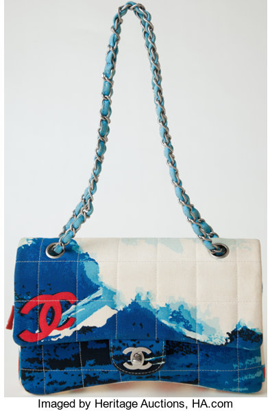 f505e8d04a6e ... Luxury Accessories:Bags, Heritage Vintage: Chanel Surf Line Fabric Flap  Bag with SilverHardware ...